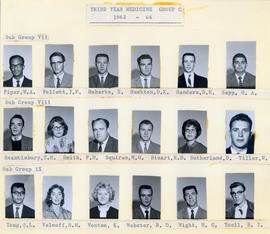 Photograph of Third Year Medical Students Group C : Class of 1963-1964