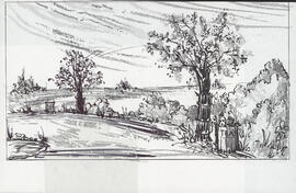 Design for scene with two trees