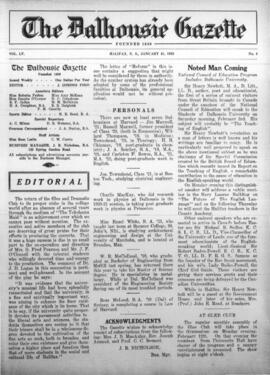 The Dalhousie Gazette, Volume 55, Issue 4