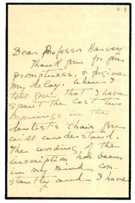Letter from Edith MacMechan to Dr. Daniel Cobb Harvey