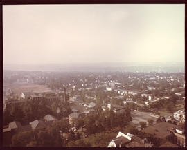Photograph of the view from the top of the Tupper Building