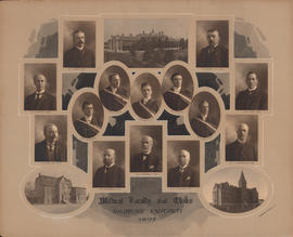 Photographic collage of the Dalhousie University medical faculty and class of 1907