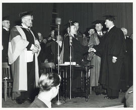 Photograph of Viscount Alexander of Tunis receiving an honorary degree