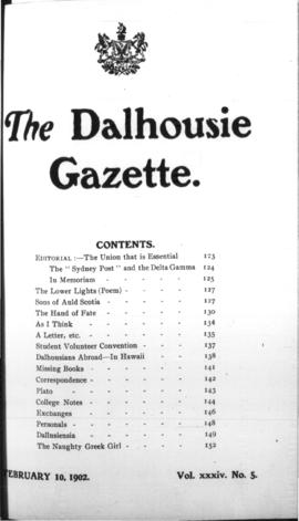 The Dalhousie Gazette, Volume 34, Issue 5