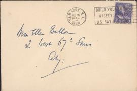 Envelope from William Somerset Maugham to Ellen Ballon