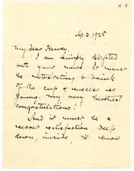 Letter from Archibald McKellar MacMechan to Dr. Daniel Cobb Harvey