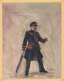 Costume design for Dull, a constable