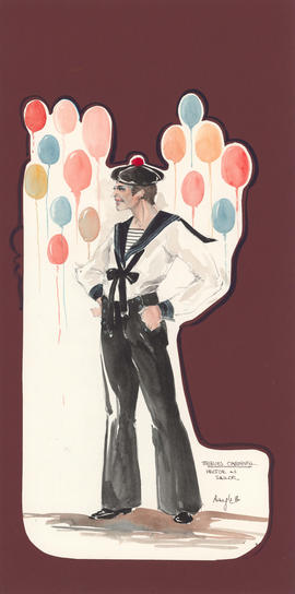 Costume design for Hector as a sailor