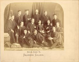 Photograph of the Dalhousie College senior class of 1885
