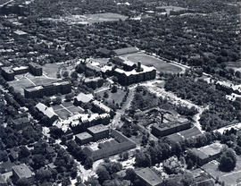 Aerial photograph of Dalhousie University