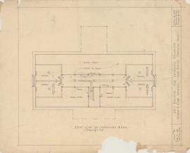 Technical drawing of the attic plan of an arts building for Dalhousie University