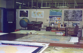 Photograph of the Map Collection room at the Killam Memorial Library, Dalhousie University