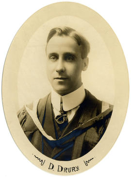 Portrait of David Drury : Class of 1918