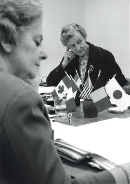 Photograph of Helen Nussbaum, Executive Director of the International Council of Nurses 1961-1967