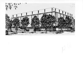 Drawing of the exterior of the Killam Memorial Library