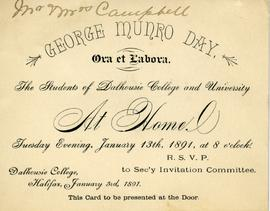Invitation to Munro Day Celebration