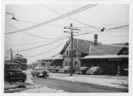 Photograph of Water street in front of the Canadian National telegraph office in Summerside Princ...