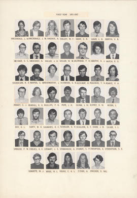 Composite photograph of the Faculty of Medicine - First Year Class, 1971-1972 (MacDonald to Zwicker)