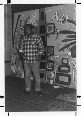 Photograph of Aubrey Williams the Howe Hall Muralist