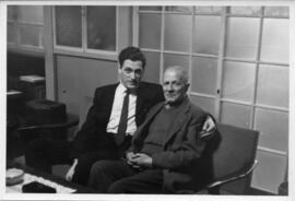 Photograph of Klaus Pringsheim and an unidentified man