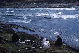 Photograph of a picnic in Sylvia Grinell Territorial Park, Northwest Territories