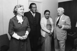 Photograph of Dr. and Mrs. Hicks with Dr. and Mrs. Henry W. Tanbiah