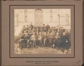 Photograph of Medical Society of Nova Scotia - Wolfville, July 2-3, 1913