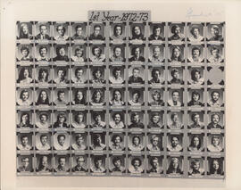 Photograph of Faculty of Law first year class of 1972-1973