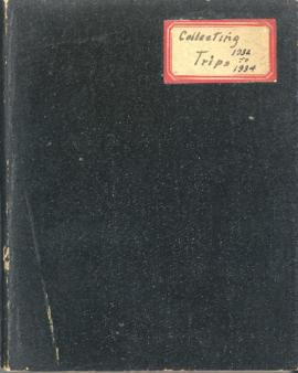 Hugh Bell's plant collecting trips notebook, 1932-1934