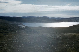 Photograph of an inlet and mountains near Cape Dorset, Northwest Territories