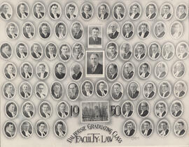 Composite photograph of Faculty of Law - Dalhousie Graduating Class - 1950