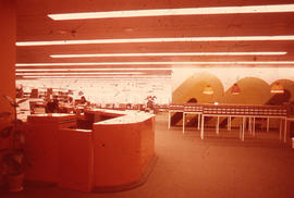 Photograph of McMaster University Health Science Library Circulation Desk