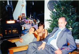 Elisabeth Mann Borgese and family at Christmas