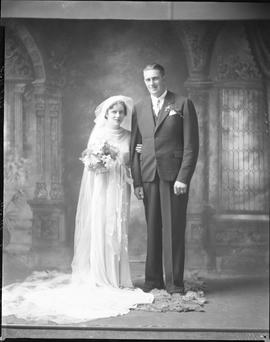 Photograph of  Mr. and Mrs. Joe McEachern on their wedding day