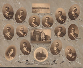 Photographic collage of the Dalhousie University senior class in medicine of 1900