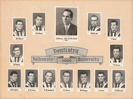 Photographic collage of the Dalhousie University dentistry class of 1961