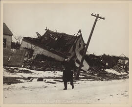 Photograph of damage to the homes on Campbell's Road after the Halifax explosion