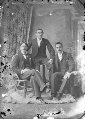 Photograph of Messrs. Matheson and McNeil and unknown individual