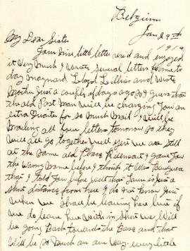 Letter from Weldon Morash to his sister Gertrude dated 29 January 1919