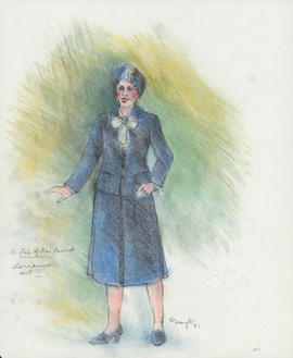 Costume design for Lorraine : Act III