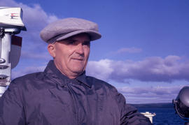 Photograph of Peter Berg  on a boat in Newfoundland and Labrador