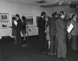 Photograph of guests at a Dalhousie Art Gallery reception