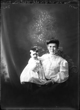 Photograph of Mrs. McDonald & baby