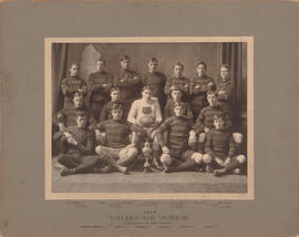 Photograph of the Dalhousie Junior Football team, winners of the trophy 1908