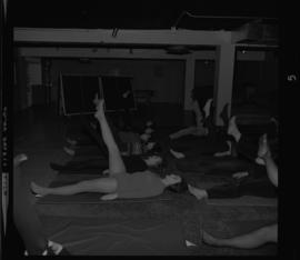 Photograph of a Yoga class at the YMCA