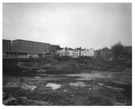 Photograph of the north view of the Killam Memorial Library construction