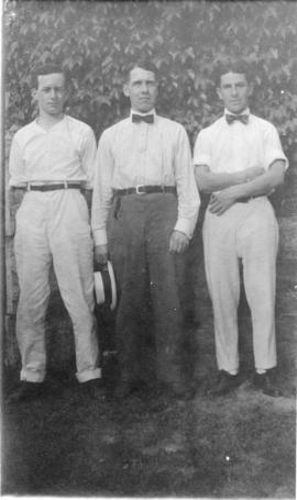 Photograph of Howard Bronson, John Johnson, and George Henderson