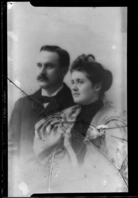Photograph of Earl Luther and an unidentified woman
