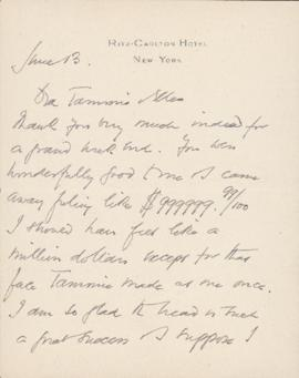 Letter from William Somerset Maugham to Sally Ryan and Ellen Ballon