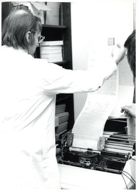 Photograph of individual viewing test results